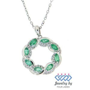 Birthstone Emerald Fine Diamond Pendant